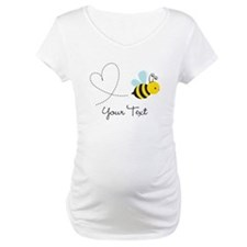 Cute Bee and Heart; honeybee; Personalized Kid's M