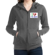 I Love The Queen Pro photo Women's Zip Hoodie