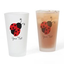 Red and Black Ladybug; Kid's, Girl's Drinking Glas