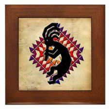 Southwest Kokopelli Framed Tile