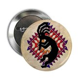 Southwest Kokopelli Button