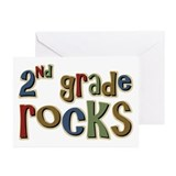 2nd Grade Rocks Second School Greeting Cards (Pack