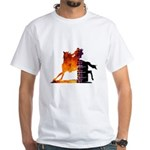 Turn 'n Burn White T-Shirt