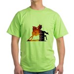 Turn 'n Burn Green T-Shirt