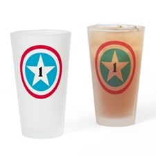 Super Star Numbers Drinking Glass