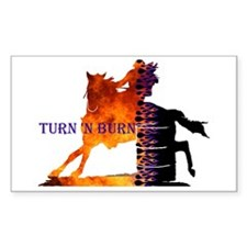 Turn 'n Burn Rectangle Decal