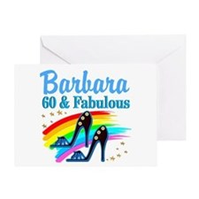GLAMOROUS 60TH Greeting Card