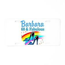 GLAMOROUS 60TH Aluminum License Plate