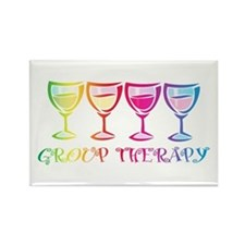 Wine Group Therapy 2 Rectangle Magnet (10 pack)