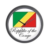 Republic of the Congo - Flag Wall Clock