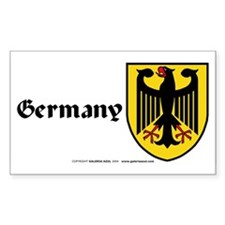Germany: Heraldic Sticker (Rect.) (English)