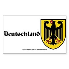 Germany: Heraldic Sticker (Rect.) (German)