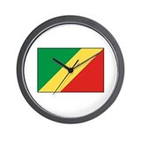 Republic of the Congo Flag Wall Clock