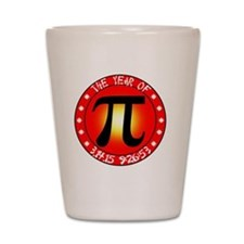Year of Pi  3/14/15 9:26:53  Shot Glass