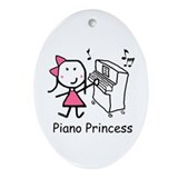 Piano - Princess Ornament (Oval)
