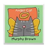 Gray Tabby Murphy Brown Memorial Art Tile
