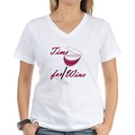 Time for Wine Women's V-Neck T-Shirt