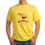 Time for Wine Yellow T-Shirt