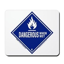Danger/Wet Symbol: Mousepad