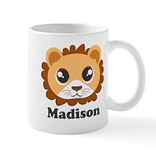 Custom Name Cute Lion Cartoon Mug