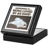 "American Eskimo ""Happiness"" Keepsake Box"