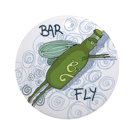 Bar Fly Drinking Ornament (Round)