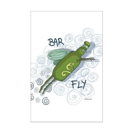 Bar Fly Drinking Mini Poster Print