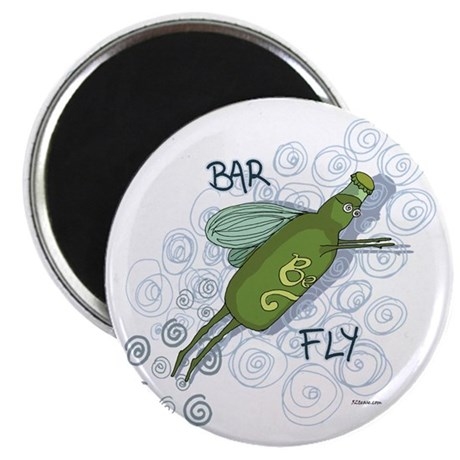 Bar Fly Drinking Magnet