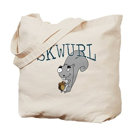 Silly Skwurl (squirrel) Tote Bag
