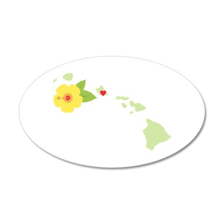 Hawaii State Map Wall Decal