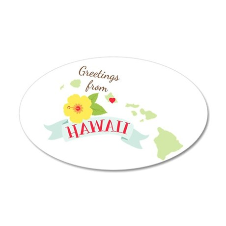 Greetings from Hawaii Wall Decal