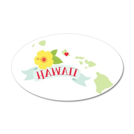 Hawaii Flower Hibiscus Wall Decal