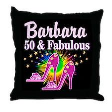 SWANKY 50TH Throw Pillow