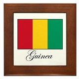 Guinea - Flag Framed Tile