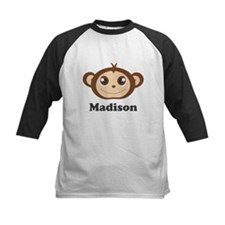 Custom Name Cute Happy Monkey Tee