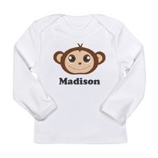 Custom Name Cute Happy Long Sleeve Infant T-Shirt