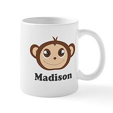 Custom Name Cute Happy Monkey Mug