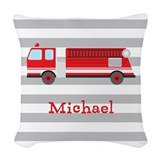 Fire truck Throw Pillows