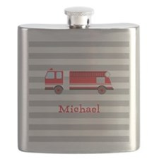 Personalized Kids Red Fire Truck Flask