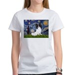 Starry Night Papillon Women's T-Shirt