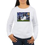 Starry Night Papillon Women's Long Sleeve T-Shirt
