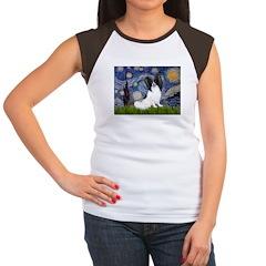 Starry Night Papillon Women's Cap Sleeve T-Shirt