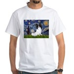 Starry Night Papillon White T-Shirt