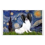Starry Night Papillon Sticker (Rectangle)