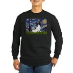 Starry Night Papillon Long Sleeve Dark T-Shirt