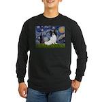 Starry Night Papillon Long Sleeve Dark T-Shirt