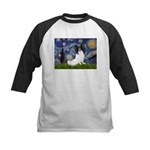 Starry Night Papillon Kids Baseball Jersey