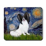 Starry Night Papillon Mousepad