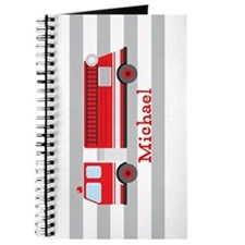 Personalized Kids Red Fire Truck Journal