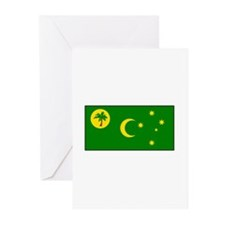 Cocos - Keeling Islands Flag Greeting Cards (Packa